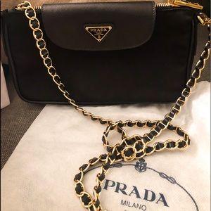 Prada Women's Saffiano Nylon Black Crossbody